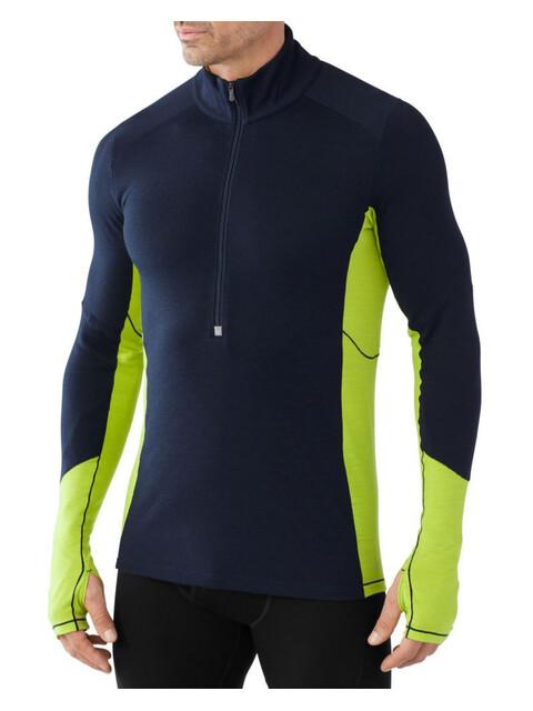 Smartwool M's PhD Light Zip T Shirt Deep Navy